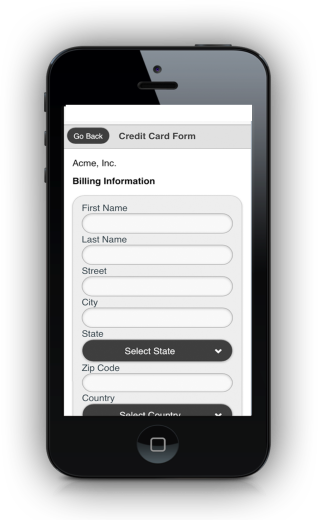 Mobile Payment Form
